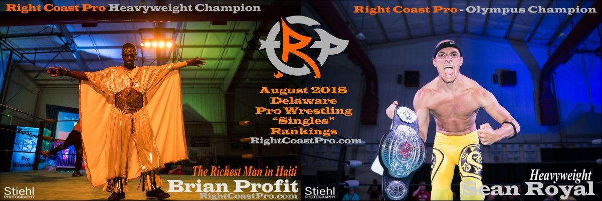 Headers August 2018 Rankings RightCoastPro Wrestling Delaware