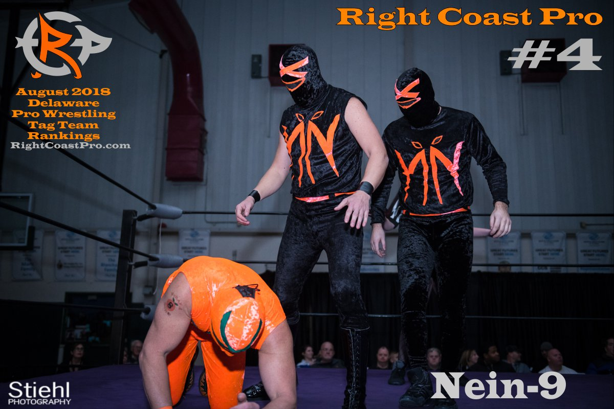 TagTeam 4 August 2018 Rankings RightCoastPro Wrestling Delaware