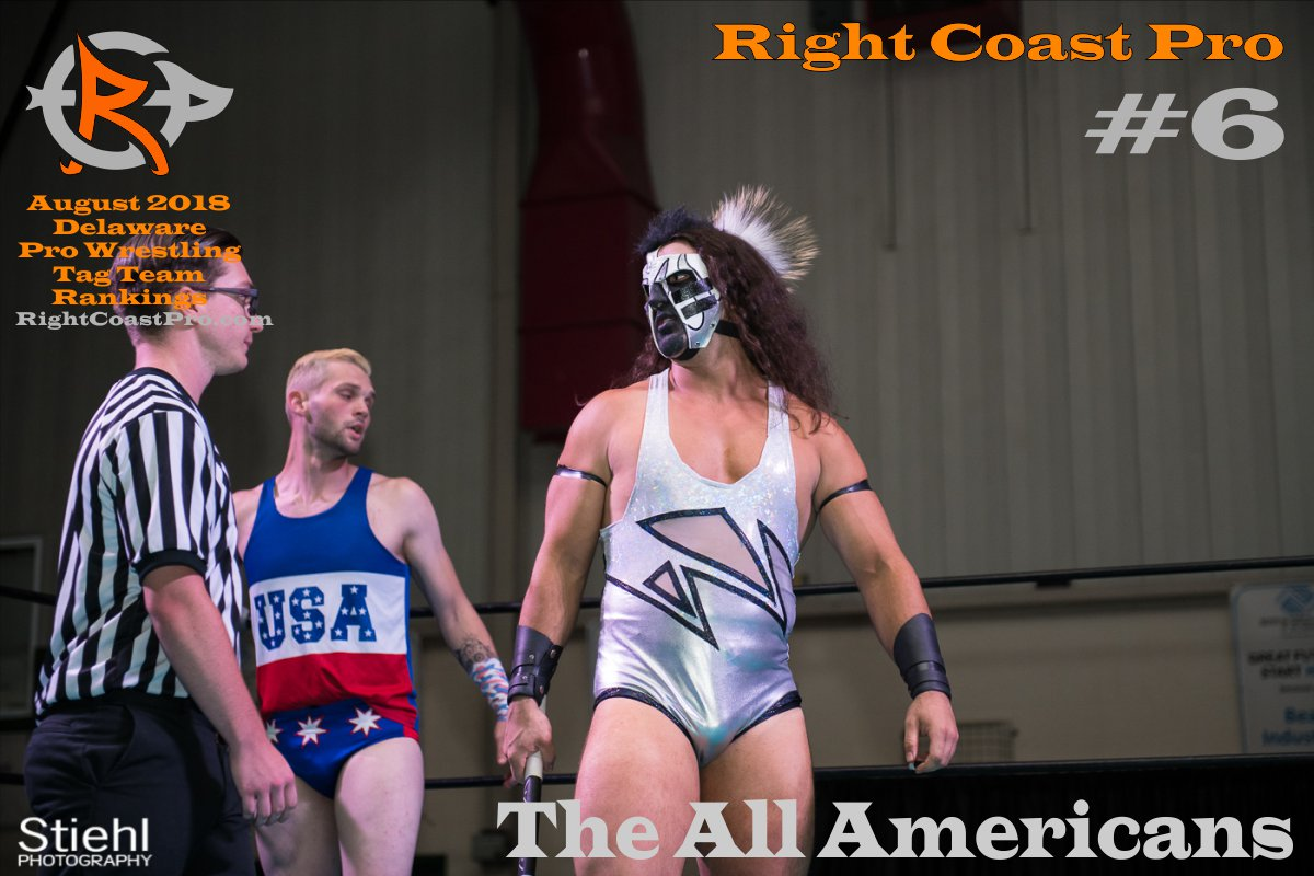 TagTeam 6 August 2018 Rankings RightCoastPro Wrestling Delaware