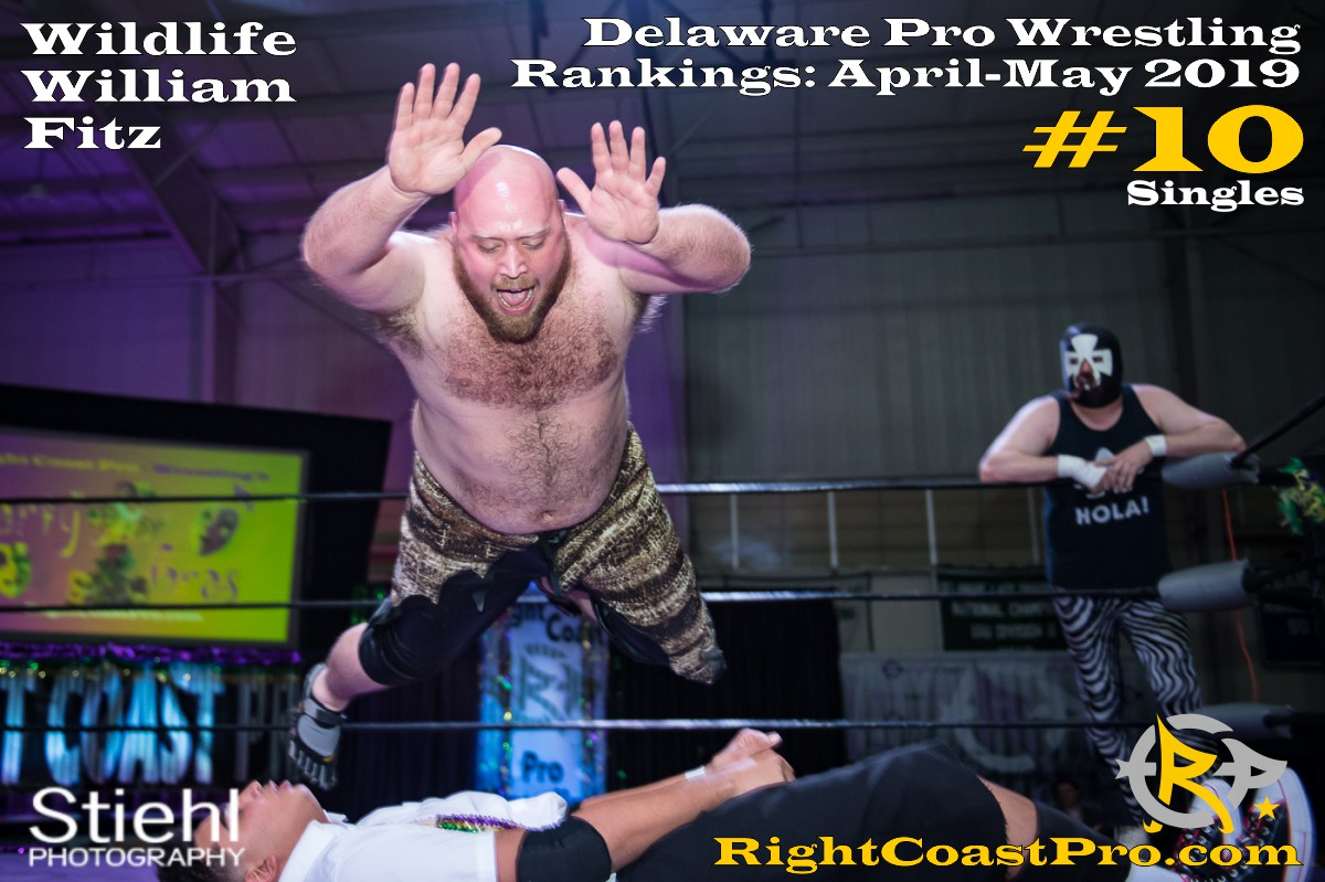2019 Singles 10 Delaware ProWrestling Rankings May RightCoastPro