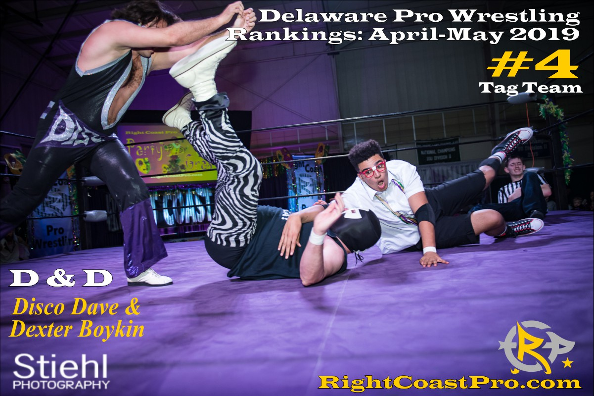 2019 TagTeam 4 Delaware ProWrestling Rankings May RightCoastPro