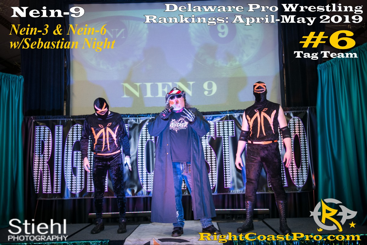 2019 TagTeam 6 Delaware ProWrestling Rankings May RightCoastPro