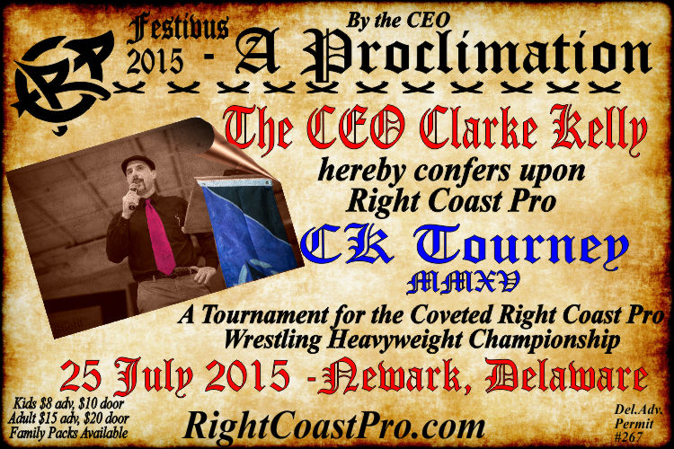 CK Tourney RCP22 RightCoastPro Wrestling Delaware Community Entertainment Event