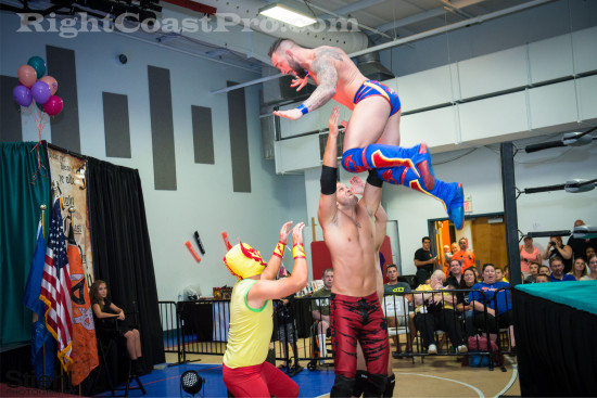 fourway 2 RCP22 RightCoastPro Wrestling Delaware Festivus2015 Event