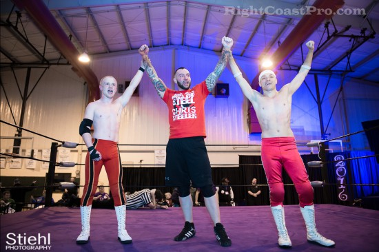 Steeler 1 champs Cadence RCP28 RightCoastPro Wrestling Delaware Event