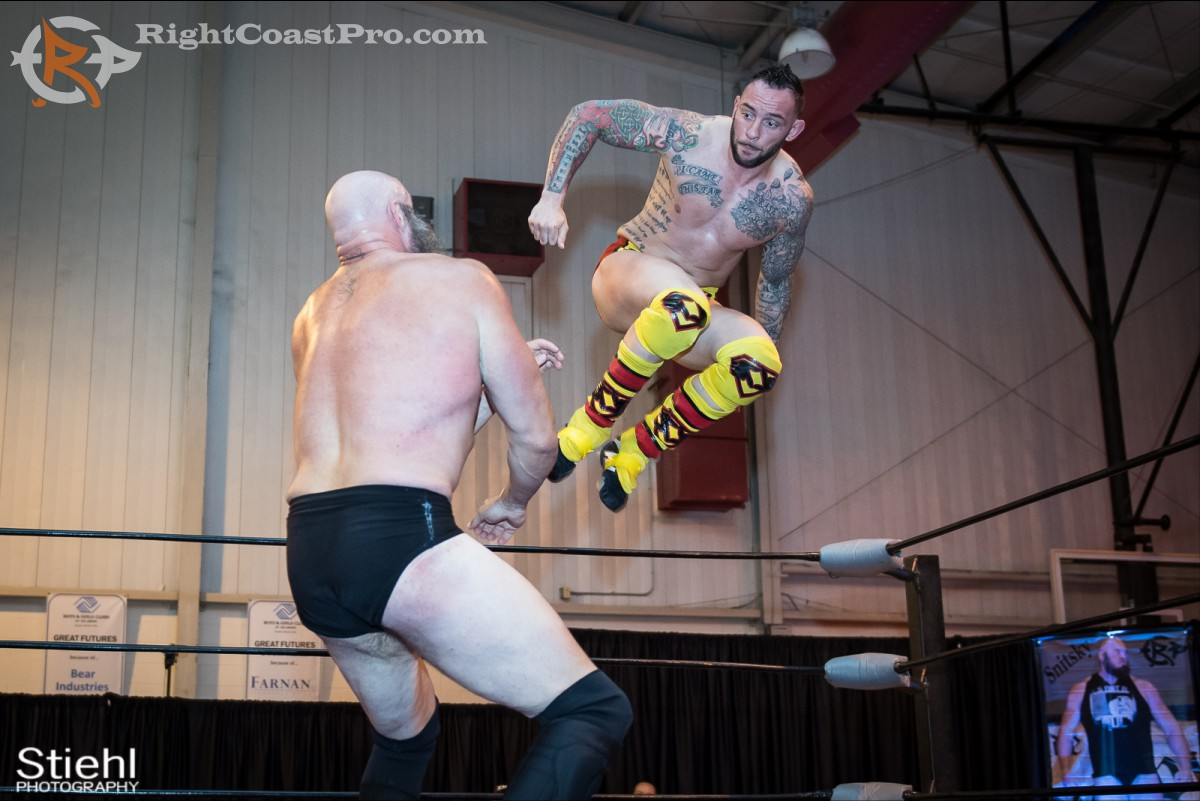 Steeler flying RCP31 RightCoast Pro Wrestling Delaware Event