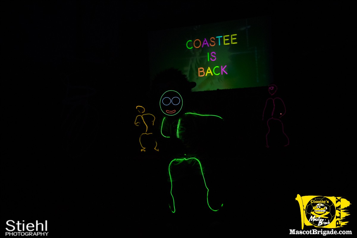 Mascot Coastee Lights the Night