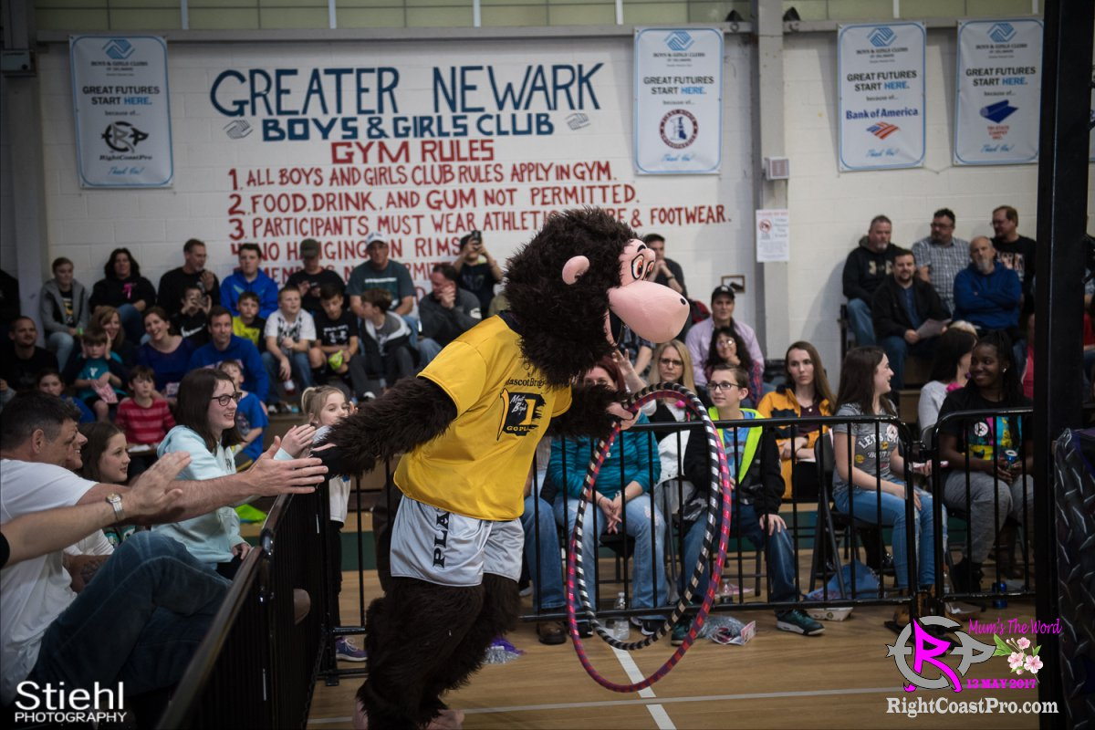 MascotCoastee 3 RCP36 RightCoast ProWrestling Delaware fitness