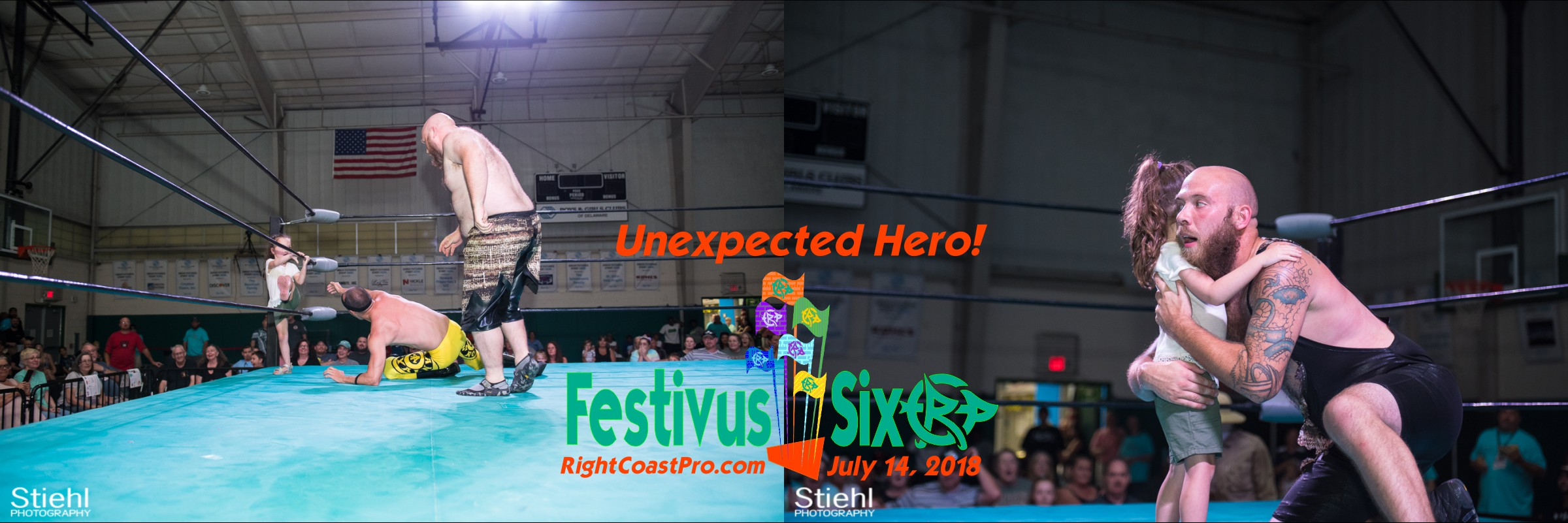 Banner Savage RightCoastPro Wrestling Delaware Festivus Six