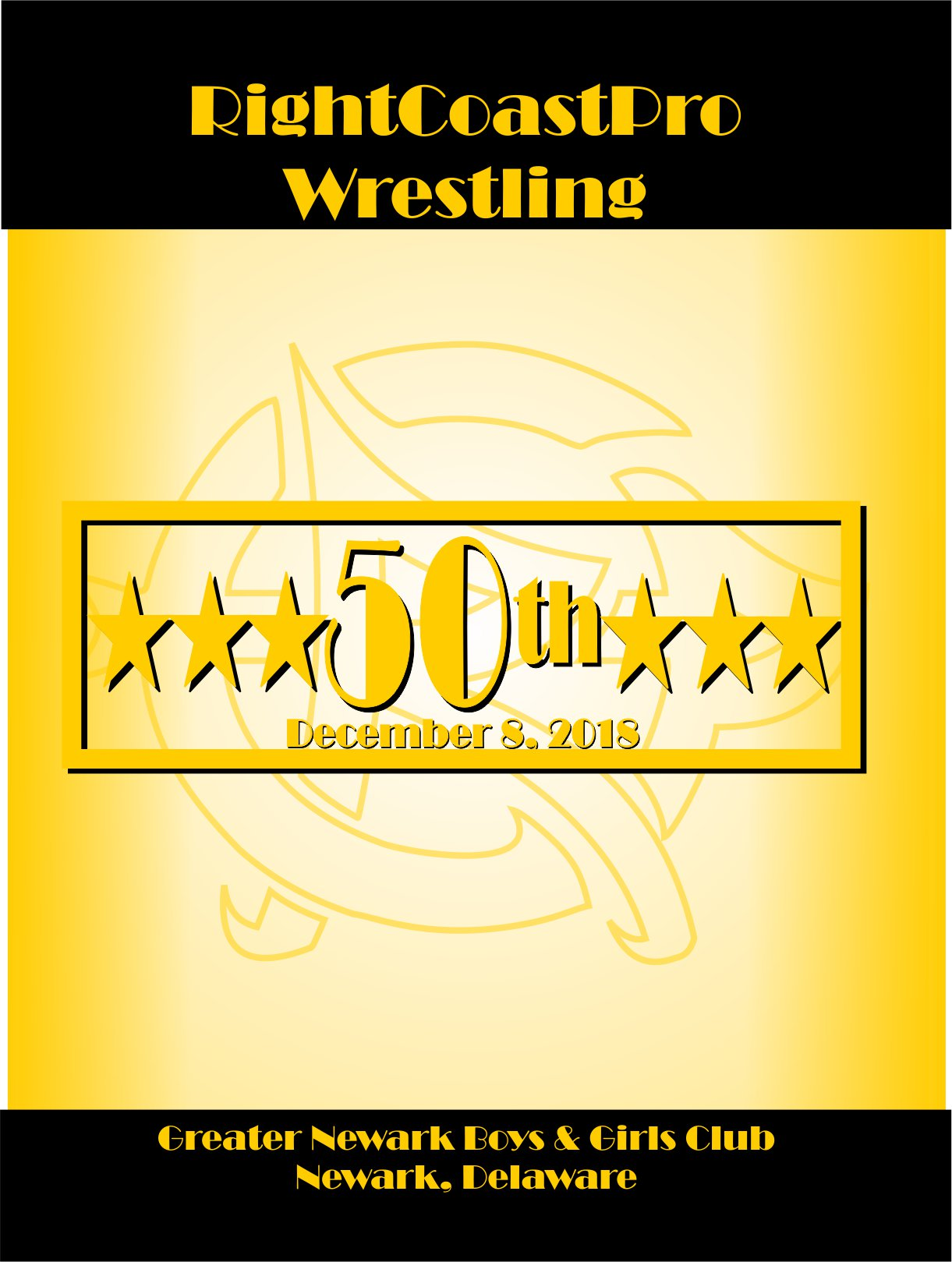 Cover RightCoastProWrestling 50thCommemorativeProgram