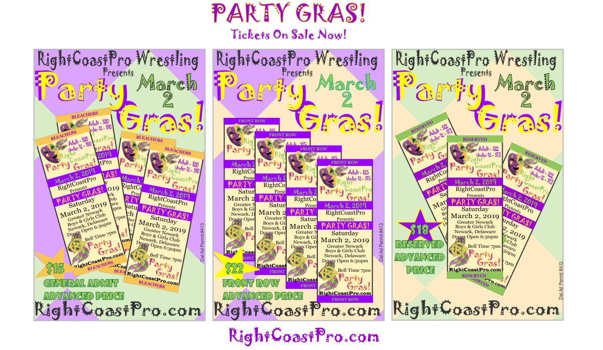 Tickets 3RCP52 PARTYGRAS RIGHTCOASTPRO