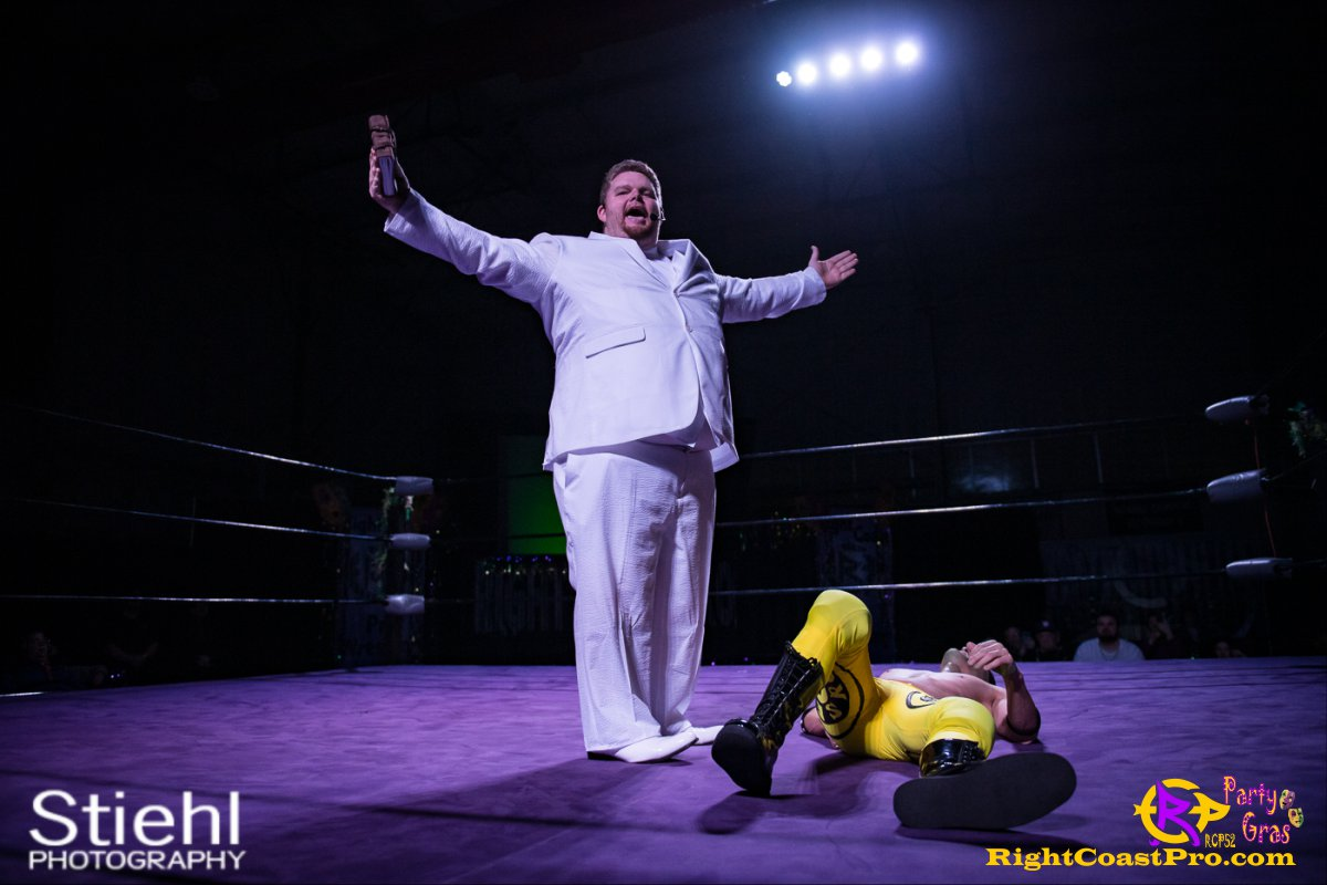 GOD 1 RCP52 PARTYGRAS rightcoastpro wrestling delaware