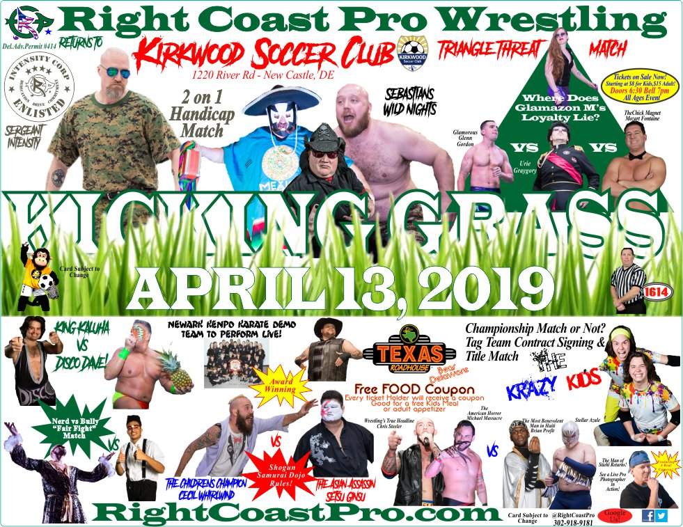 RCP54 Revised POSTER RightCoastProWrestlingDelaware