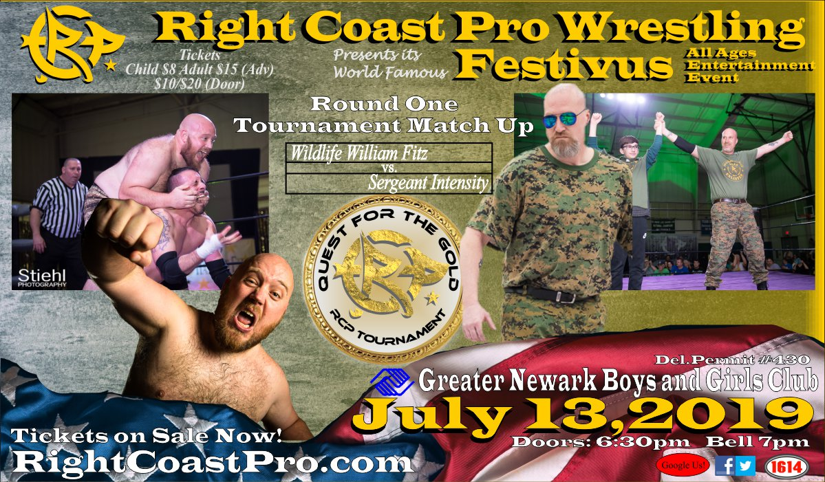 Fitz Intensity RCP56 RightCoastPro Wrestling Delaware Event