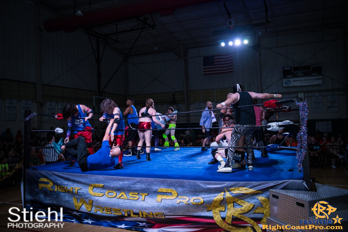 RCP56 Rumble 29 FESTIVUS rightcoastpro wrestling delaware