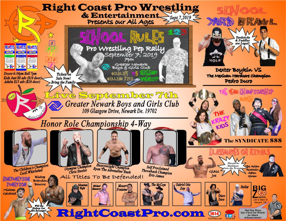 RCP57 980 PepRally Poster SchoolRules RightCoastPro Delaware