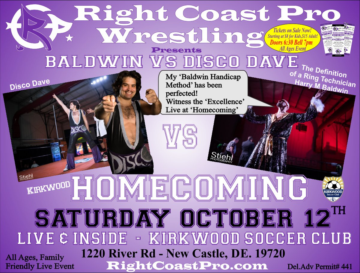 RCP58 Disco Harry Homecoming RightCoastProWrestling Google