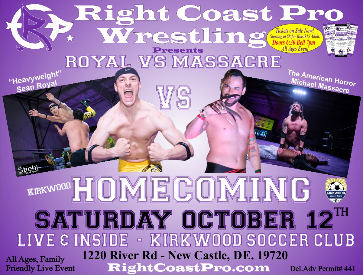 RCP58 Royal Massacre Homecoming RightCoastProWrestling Google