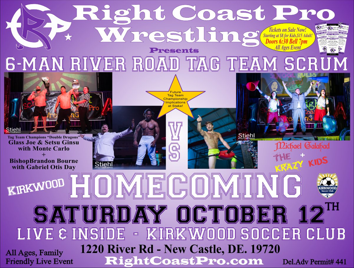 RCP58 TAG Championship Homecoming RightCoastProWrestling Google