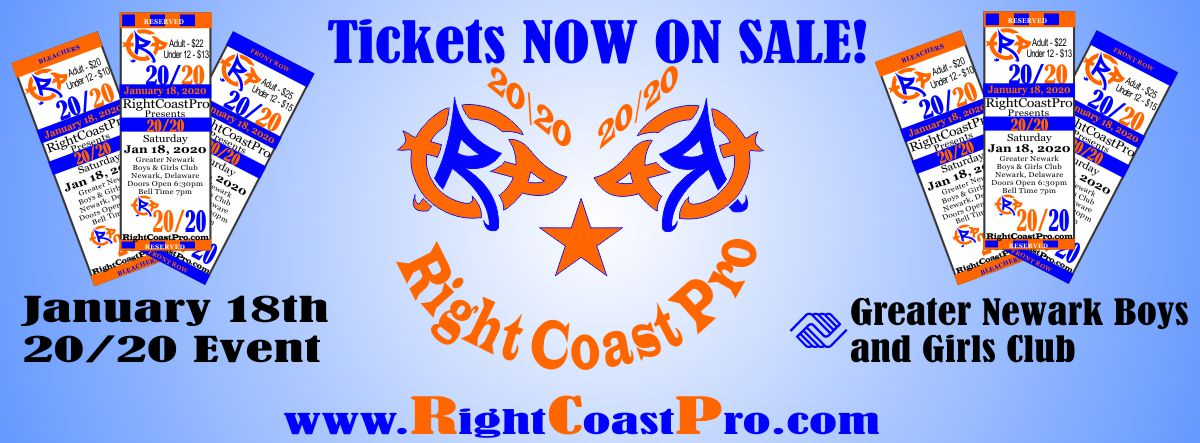 RCP60 1200 Tickets 2020 RightCoast Pro Wrestling Delaware