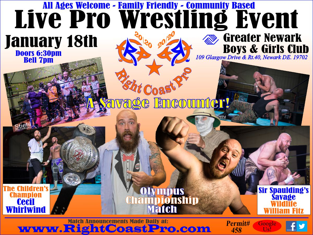 RCP60 OlympusChampionship 2020 RightCoast Pro Wrestling Delaware