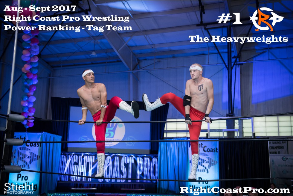 1 Heavyweights September Delaware Professional Wrestling TagTeam Rankings