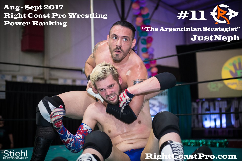 11 JustNeph Heavyweights September Delaware Professional Wrestling Rankings