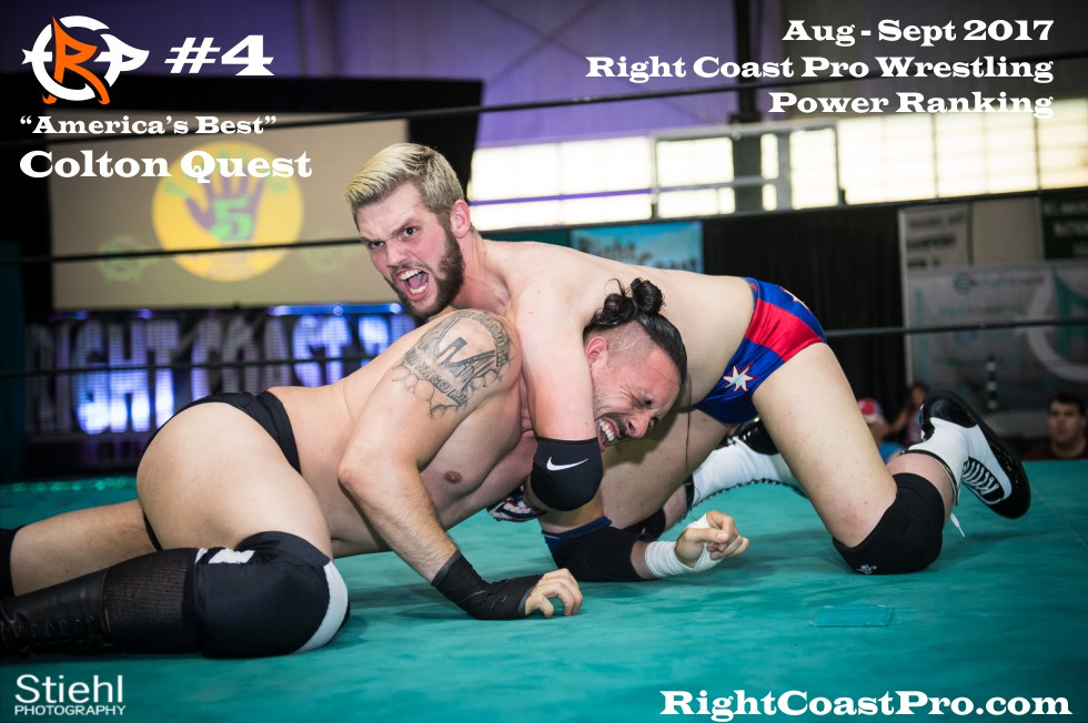 4 ColtonQuest September Delaware Professional Wrestling Rankings