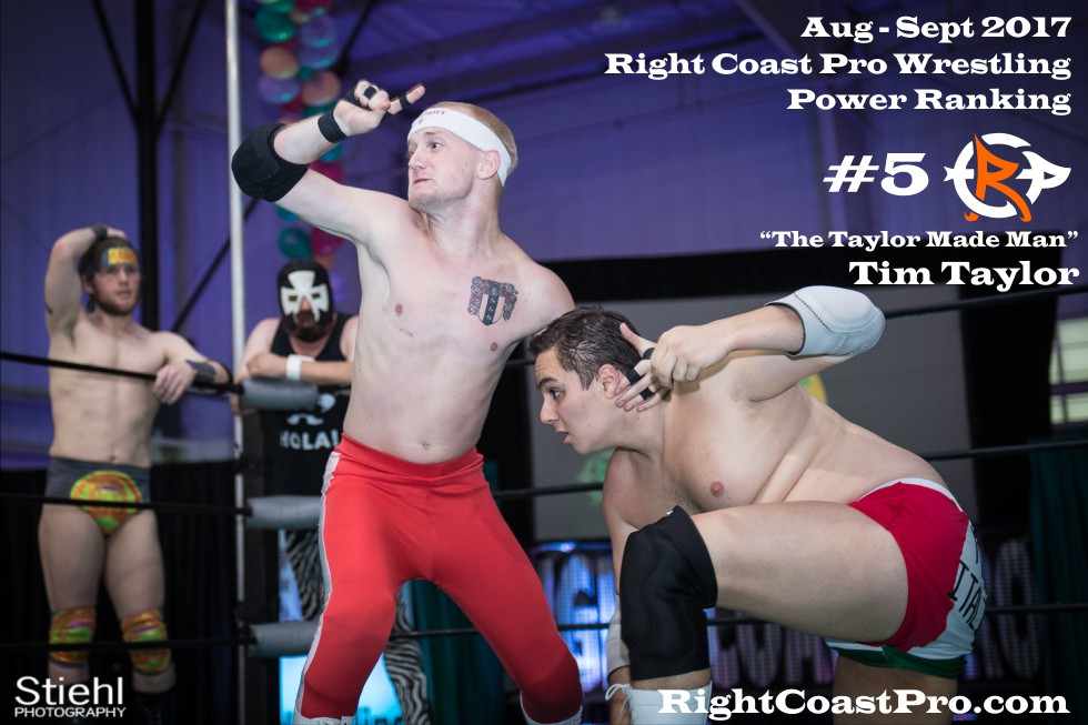 5 TimTaylor September Delaware Professional Wrestling Rankings