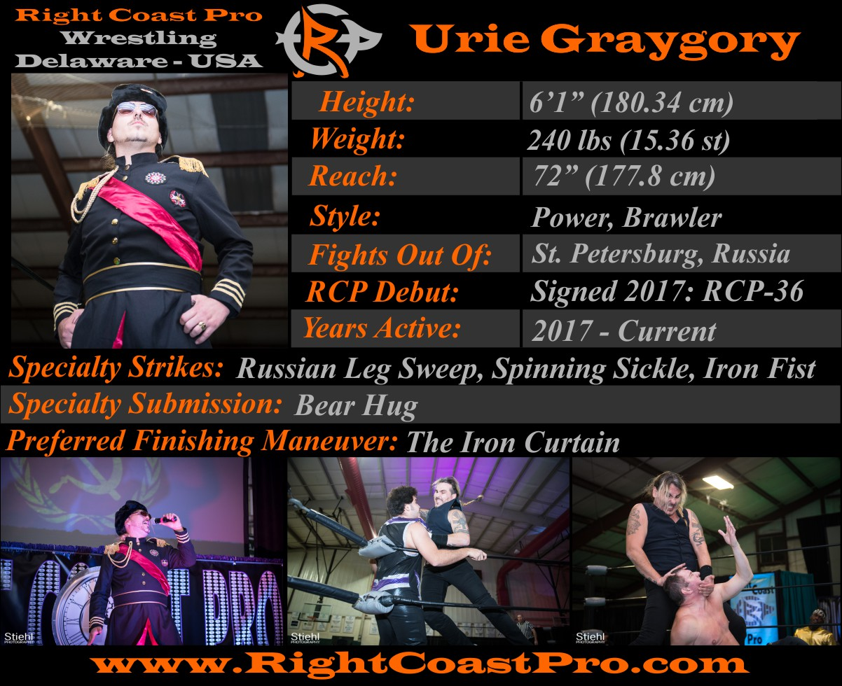Boris Graygory Roster Profiles RightCoastPro Wrestling Delaware