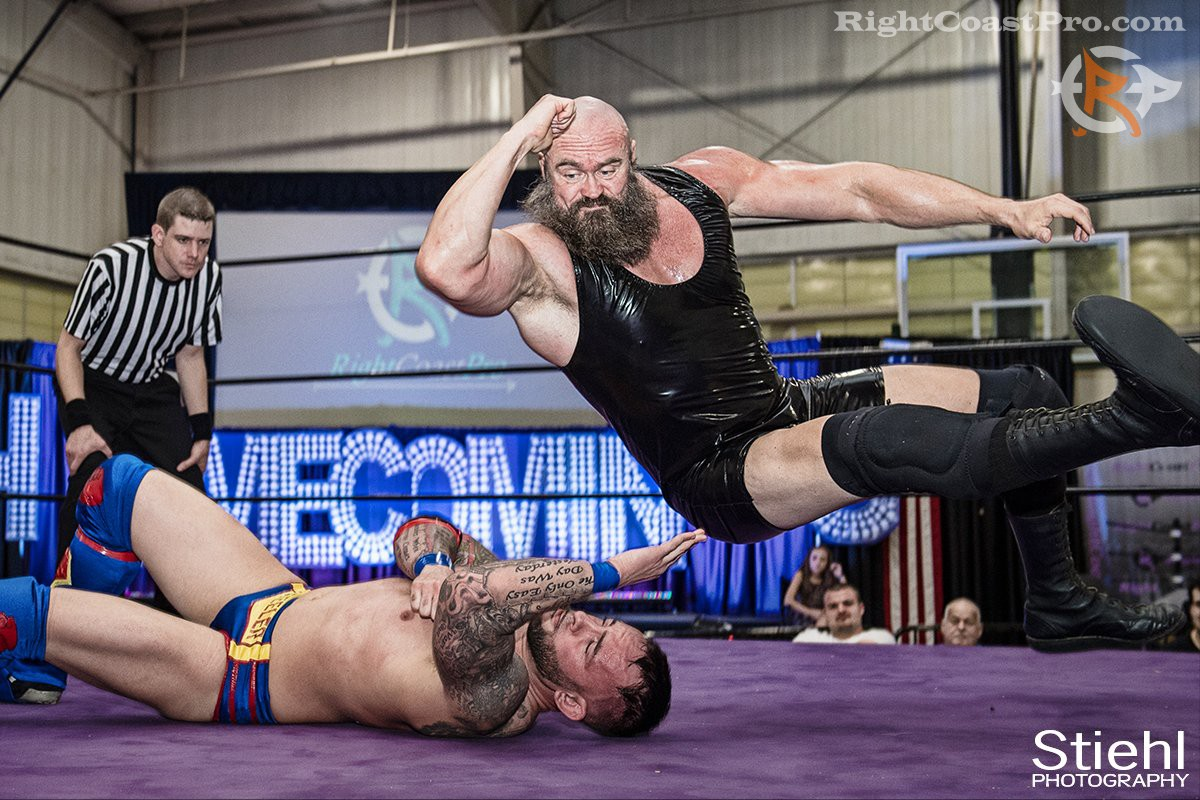Snitsky elbowdrop RCP32 RightCoast Pro Wrestling Delaware Event