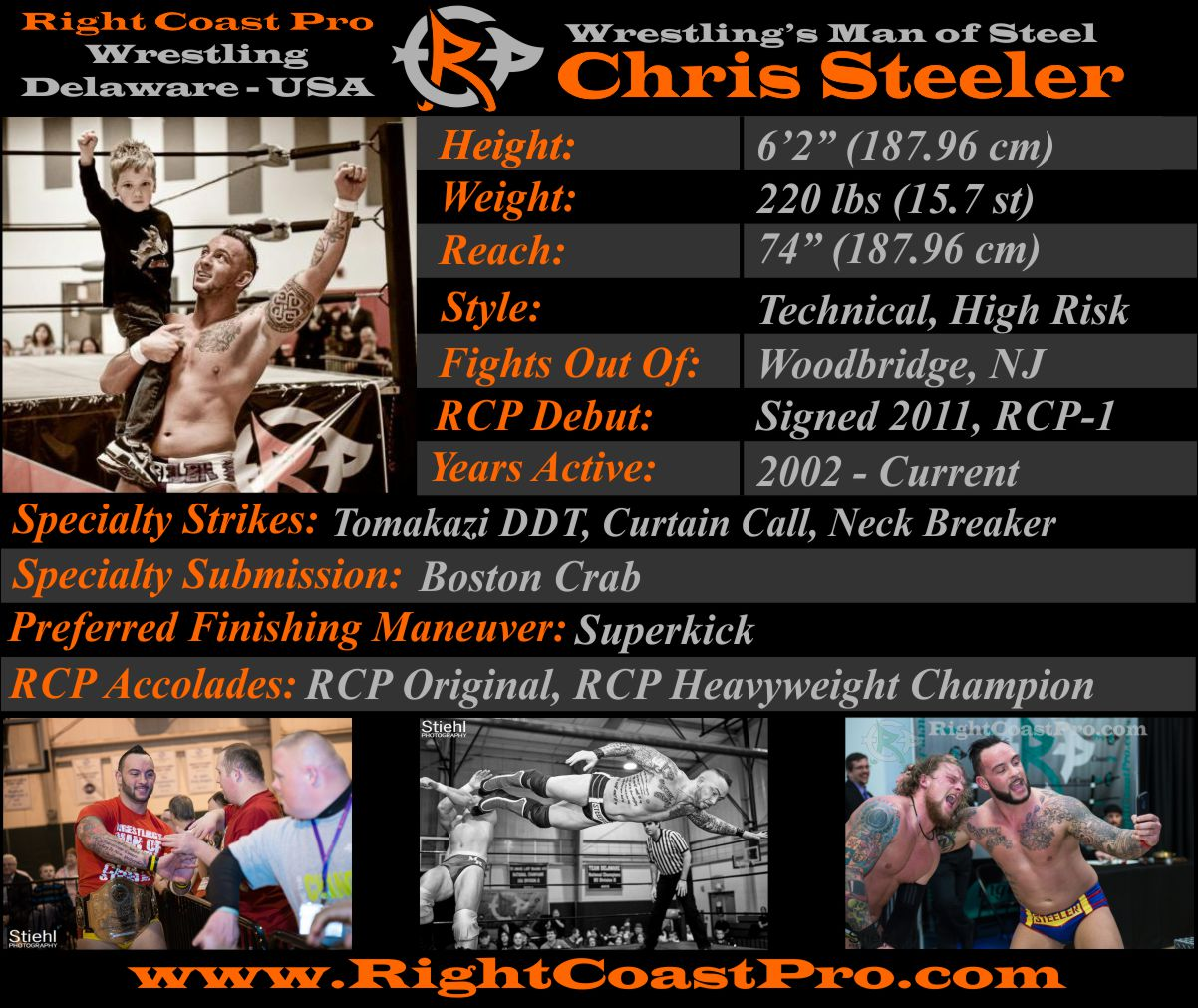 ChrisSteeler AthleteProfile RightCoastPro Wrestling Delaware