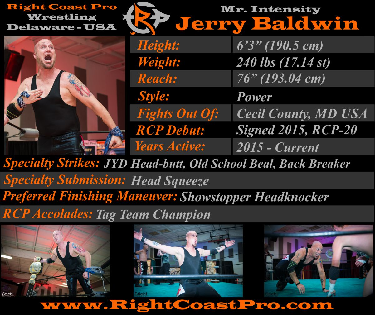 Jerry Baldwin AthleteProfile RightCoastPro Wrestling Delaware